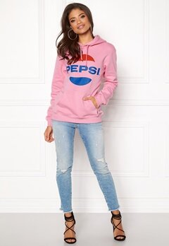 Pepsi Sweet Pepsi Logo Hoodie Pink Bubbleroom.se