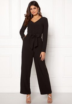 Pieces Albia LS Jumpsuit Black Bubbleroom.se