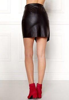 Pieces Alma Faux Leather Skirt Black Bubbleroom.se