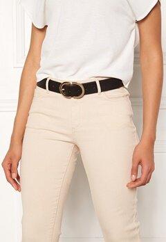 Pieces Ami Jeans Belt Black/Gold Metal Bubbleroom.se