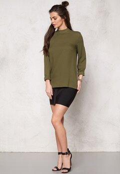 Pieces Batina Deep Back Top Dark Olive Bubbleroom.fi
