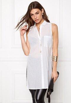 Pieces Bea Slit Shirt Bright White Bubbleroom.se