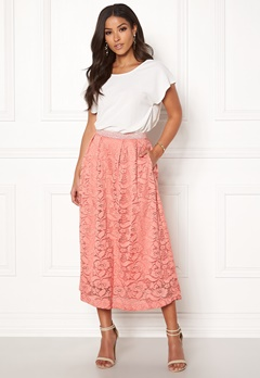 Pieces Beda Ankle Lace Skirt Rose Dawn Bubbleroom.se