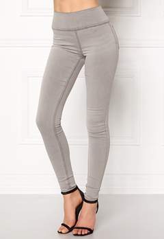 Pieces Betty High Waist Jeggings Light Grey Denim Bubbleroom.fi