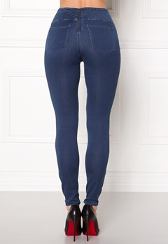 Pieces Betty High Waist Jeggings Medium Blue Denim Bubbleroom.se