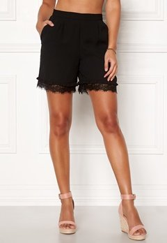 Pieces Brook MW Shorts Black Bubbleroom.se