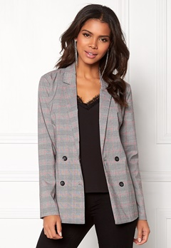 Pieces Carla LS Blazer Light Grey Melange Bubbleroom.se