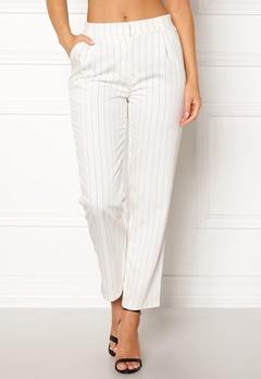 Pieces Claire MW Ankle Pants Bright White/Stripes Bubbleroom.se