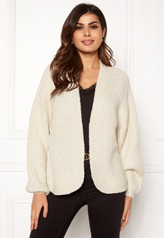 Pieces Clarissa LS Knit Cardigan Almond Milk Bubbleroom.se