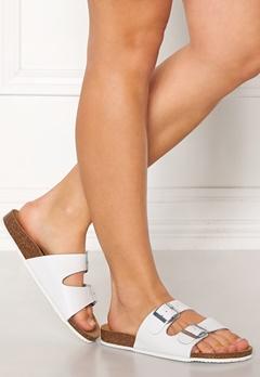 Pieces Coco Leather Sandals Bright White Bubbleroom.se