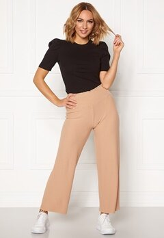 Pieces Curl HW Cropped Pants Warm Sand Bubbleroom.se