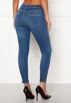 Pieces Delly Skinny Jeans Light Blue Denim Bubbleroom.se