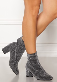 Pieces Donna Glitter Boot Silver Colour Bubbleroom.se