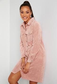 Pieces Effi LS Shirt Dress Misty Rose Bubbleroom.se