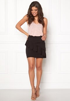 Pieces Erica Skirt Black Bubbleroom.fi