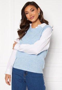Pieces Fenja Knit Vest Cashmere Blue Bubbleroom.se