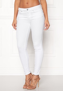 Pieces Five Delly B300 MW Jeans Bright White Bubbleroom.se