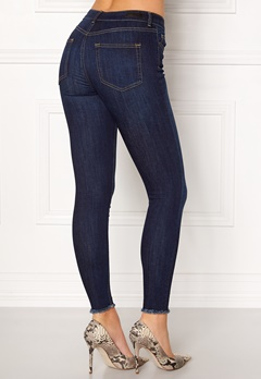 Pieces Five Delly Jeans Dark Blue Denim Bubbleroom.fi