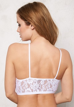 Pieces Gela Lace Bra Bright White Bubbleroom.fi