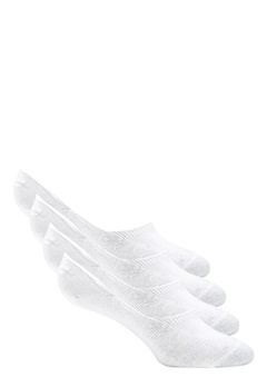 Pieces Gilly Footies 4 Pack Bright White Bubbleroom.se