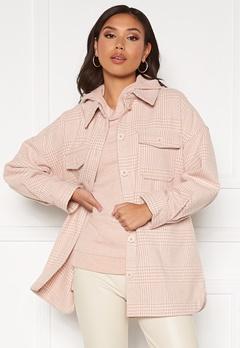 Pieces Gwyneth Overshirt Jacket Rose Cloud bubbleroom.se