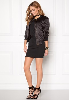 Pieces Haley Bomber Jacket Black Bubbleroom.fi