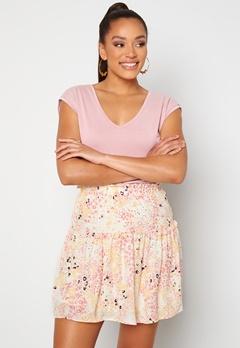 VERO MODA Hannah Foil Short Skirt Birch Bubbleroom.se