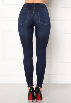 Pieces High Waist Betty Soft Dark Blue Denim Bubbleroom.eu