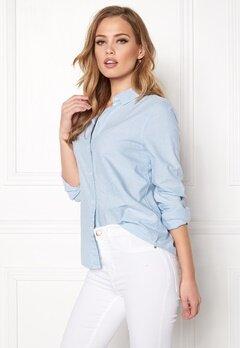 Pieces Irena LS Oxford Shirt Kentucky Blue Bubbleroom.se