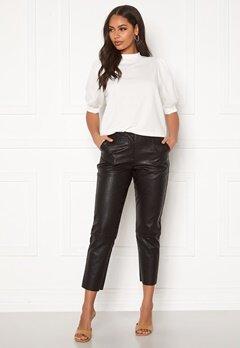Pieces Ivina MW Cropped Pants Black Bubbleroom.se