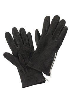 Pieces Jamista Suede Glove Black Bubbleroom.no