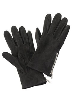 Pieces Jamista Suede Glove Black Bubbleroom.no