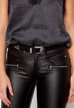 Pieces Janey Jeans Belt Black/Silver Bubbleroom.se