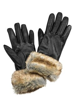 Pieces Janna Leather Glove Ginger Snap Bubbleroom.se