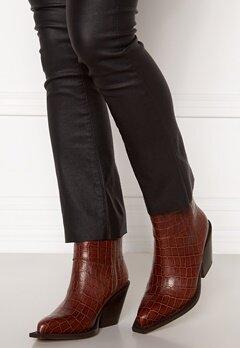 Pieces Jean Leather Boot Cognac Bubbleroom.se