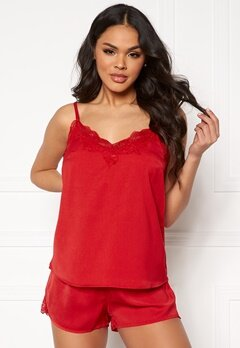 Pieces Jessica Nightwear Set Racing Red Bubbleroom.se