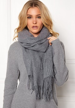 Pieces Jira Wool Scarf Grey Melange Bubbleroom.se