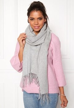 Pieces Jira Wool Scarf Light Grey Melange Bubbleroom.se