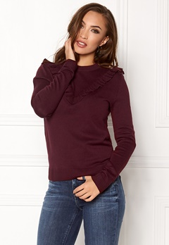 Pieces Jolanda LS Knit Port Royale Bubbleroom.fi