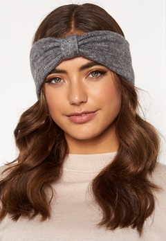 Pieces Josefine Wool Headband Medium Grey Melange Bubbleroom.se
