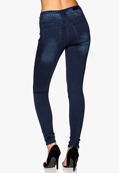 Pieces Just Jute Washed Legging Dark Blue Denim Bubbleroom.no