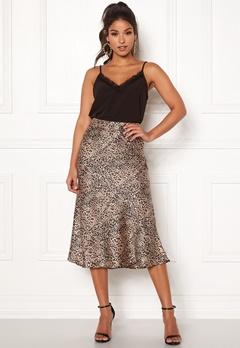 Pieces Kaia Skirt Black/Leopard Bubbleroom.se