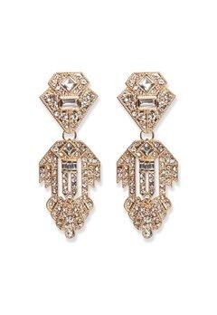 Pieces Kenzie Earrings Gold Bubbleroom.se