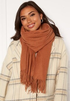 Pieces Kial New Long Scarf Mocha Bisque Bubbleroom.se