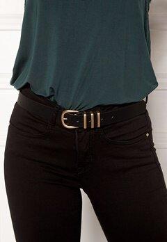 Pieces Lea Jeans Belt Black/Gold Bubbleroom.se