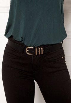 Pieces Lea Jeans Belt Black/Gold Bubbleroom.se
