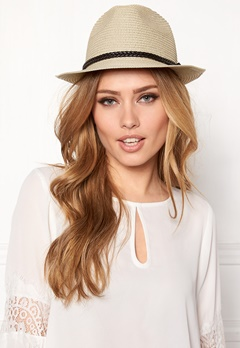 Pieces Lea Straw Hat Natural Bubbleroom.se