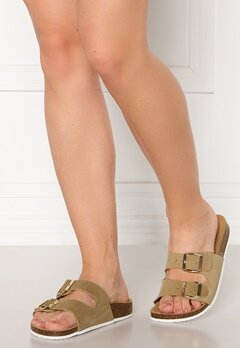 Pieces Lina Suede Sandal Warm Sand Bubbleroom.se