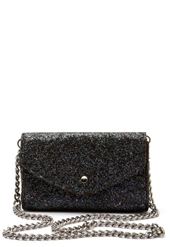 Pieces Line Crossbody Bag Black Bubbleroom.se