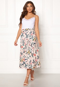 Pieces Liv HW Midi Skirt Lotus/Flowers Bubbleroom.se